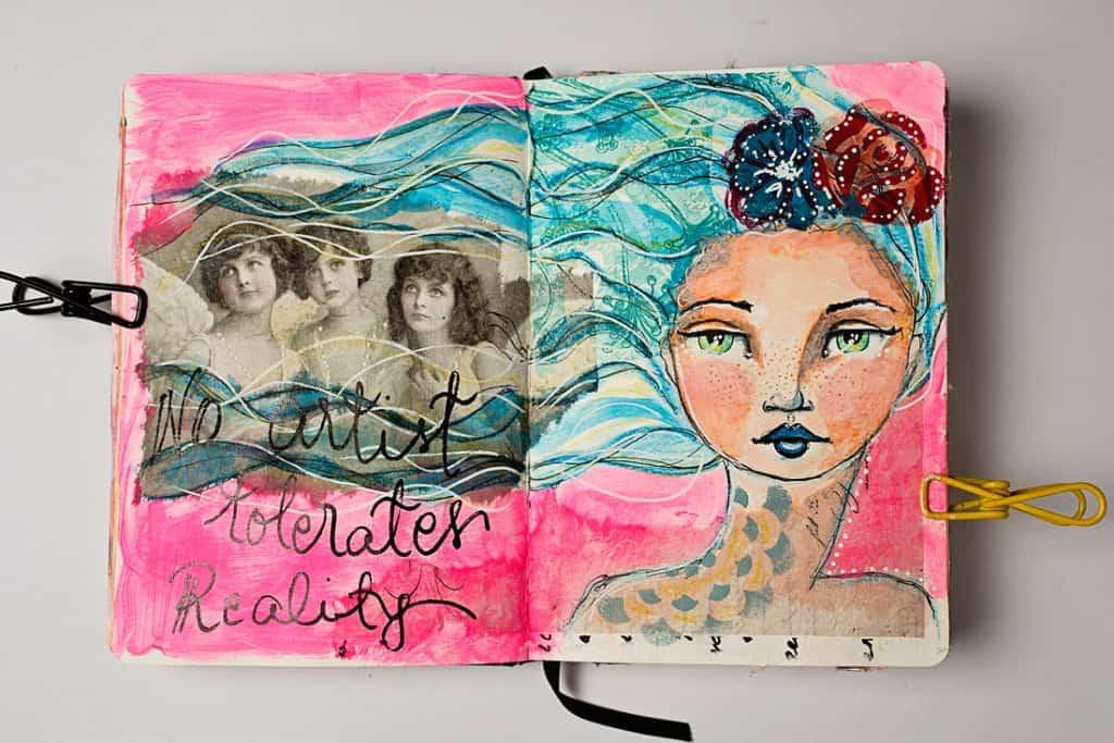 AN ART JOURNAL PAGE AS AN EXAMPLE FOR STARTING AN ART JOURNAL