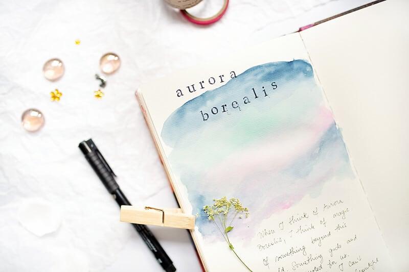 AN ART JOURNAL PAGE FOR BUCKET LIST