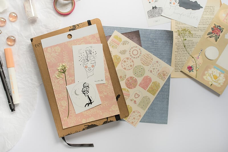 ART JOURNALING PAPER SUPPLIES