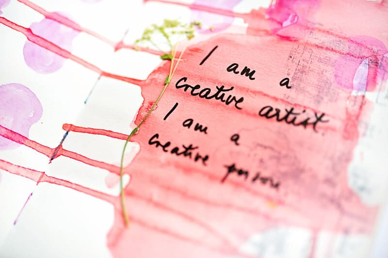 MINDFUL ART JOURNAL WITH POSITIVE AFFIRMATIONS