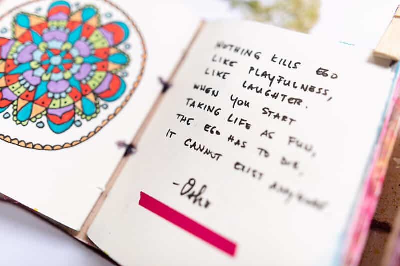 MINDFUL ART JOURNALING WITH A QUOTE