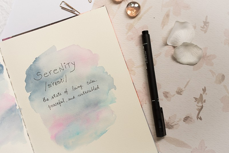 BEGIN AN ART JOURNAL PAGE WITH A FAVORITE WORD