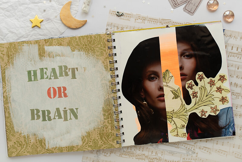 A COLLAGE ART JOURNAL PAGE