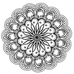 a drawing of a mandala