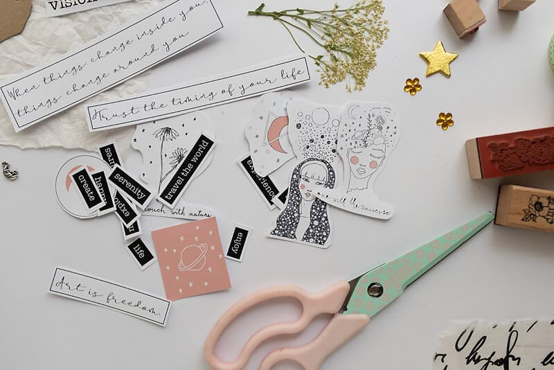 printable stickers for art journaling