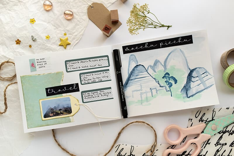 A VISION BOARD ART JOURNAL spread