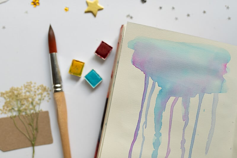 WATERCOLOR BACKGROUND TECHNIQUE WITH DRIPPING