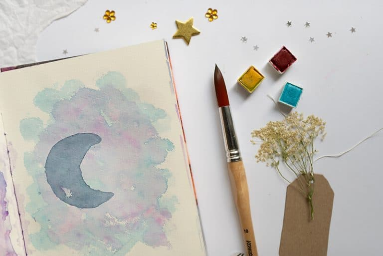 Art Journal Watercolor Background Techniques: 5 Easy Ideas