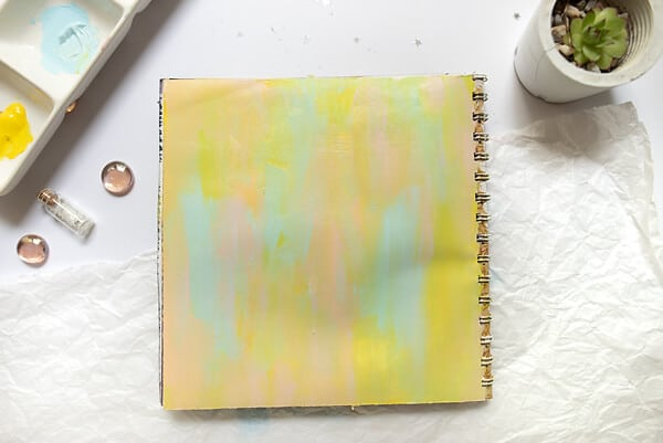 blended paint in art journal