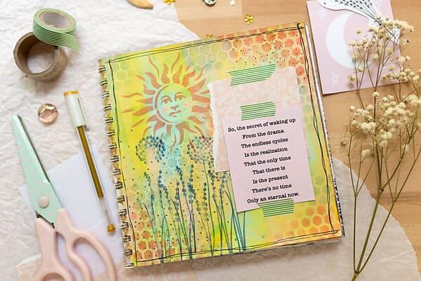 lyrics art journal