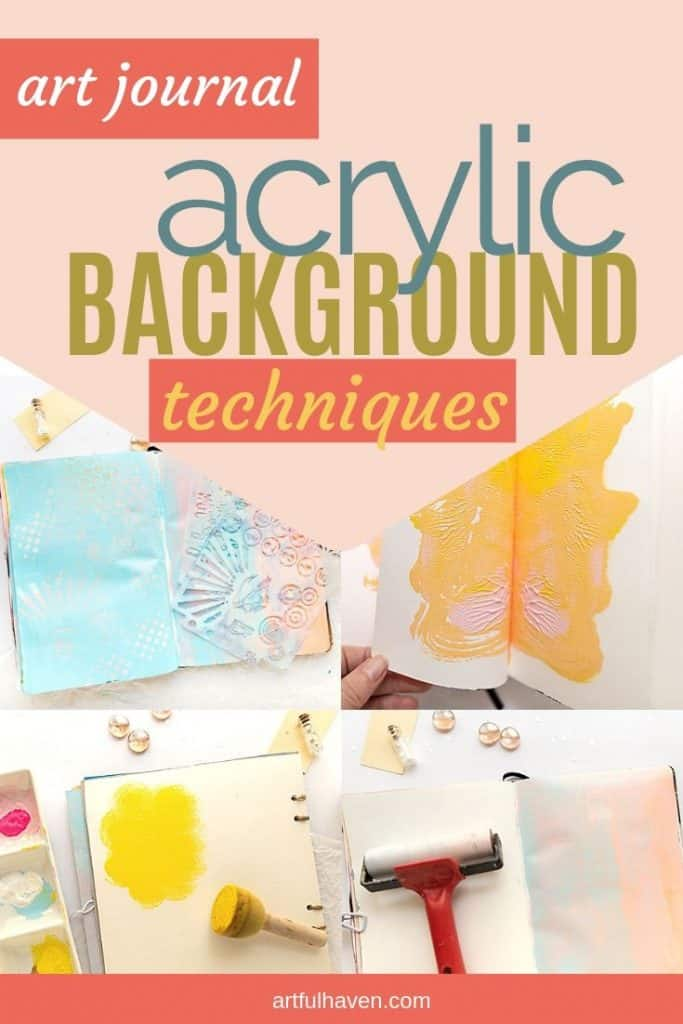 acrylic background ideas art journal