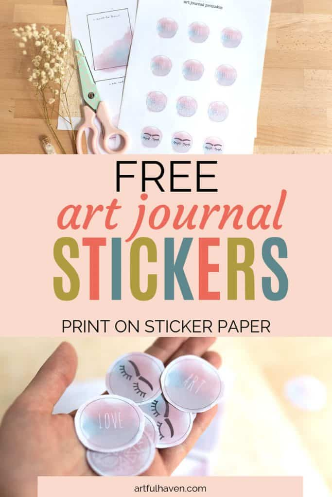 art journaling printable stickers