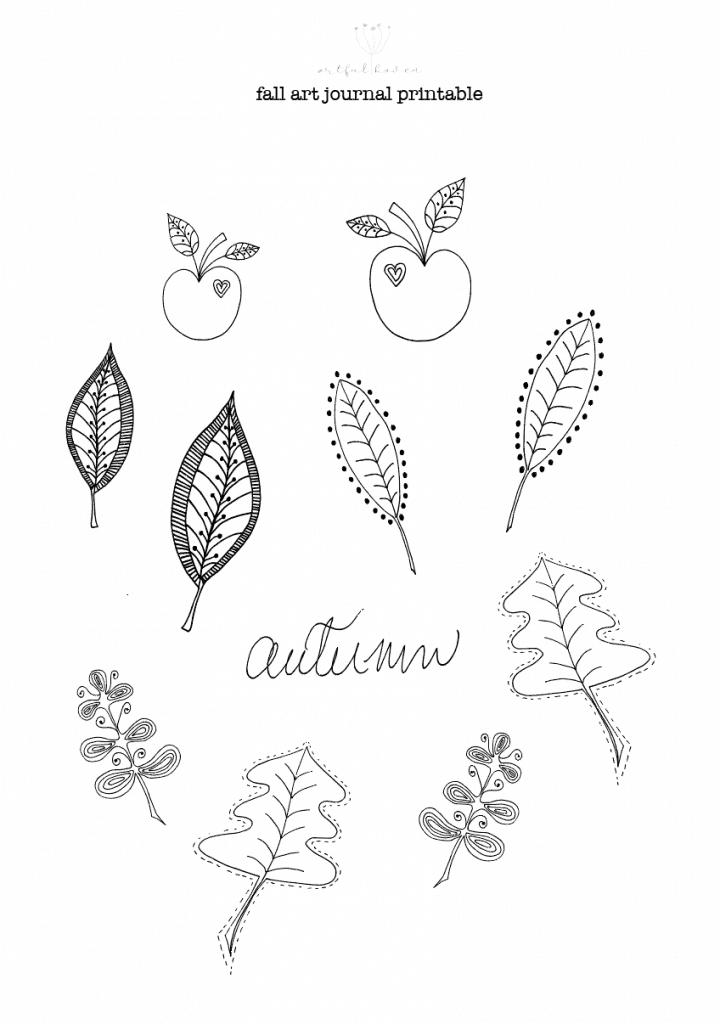 fall art journal printable