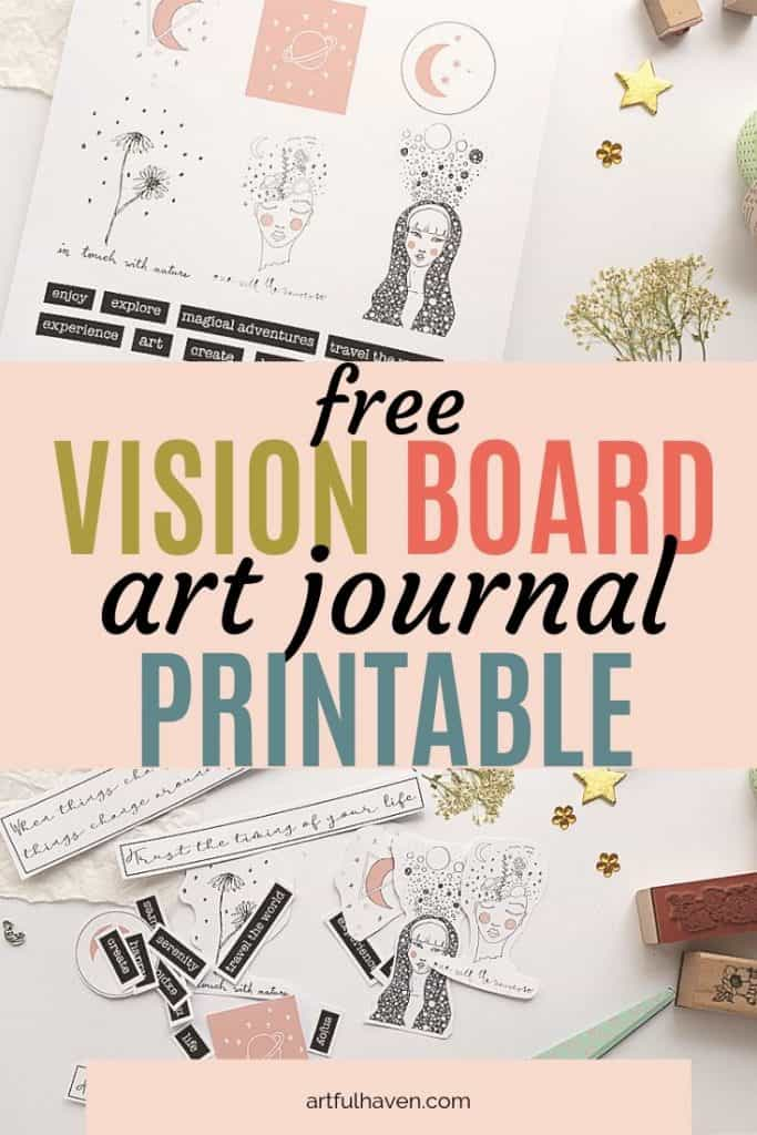vision board art journal