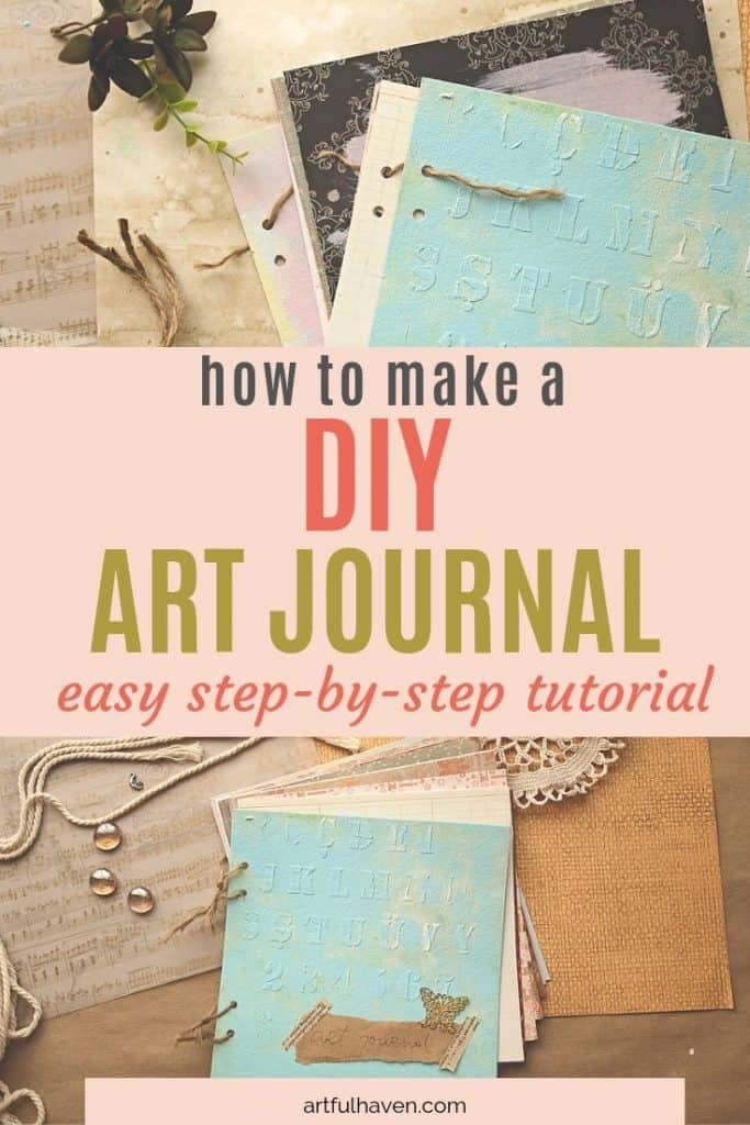 how to make a diy art journal