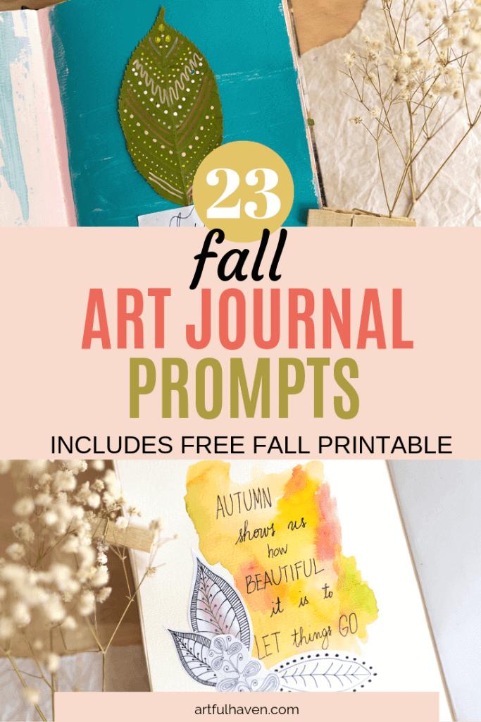 fall art journal prompts