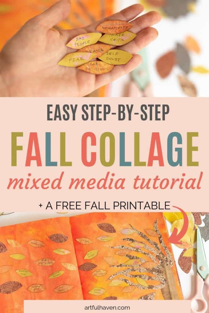 FALL COLLAGE MIXED MEDIA TUTORIAL