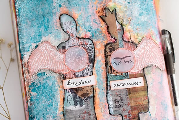 human figures made with a printable diy stencil
