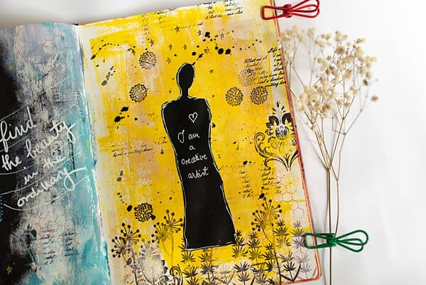 mixed media art journal background