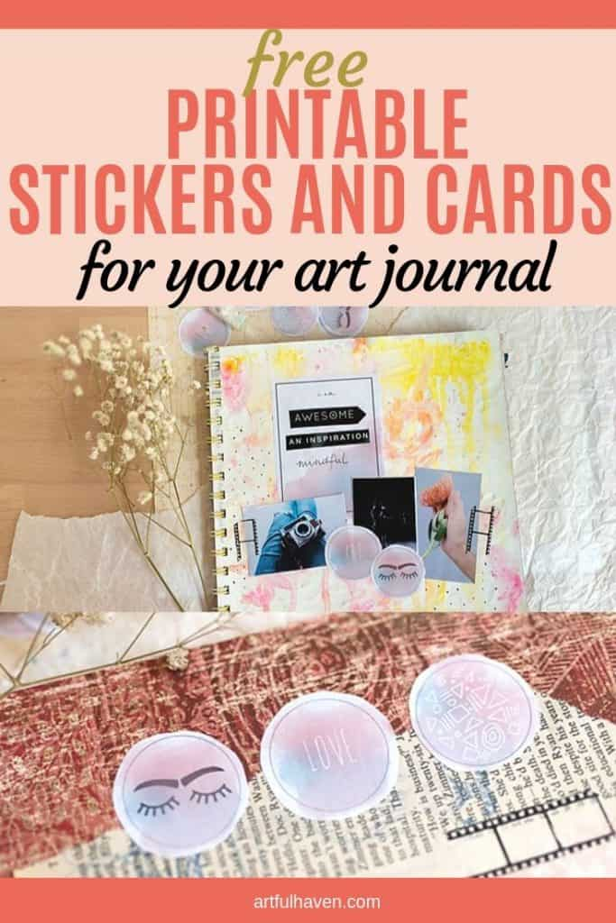 free printable art journal stickers