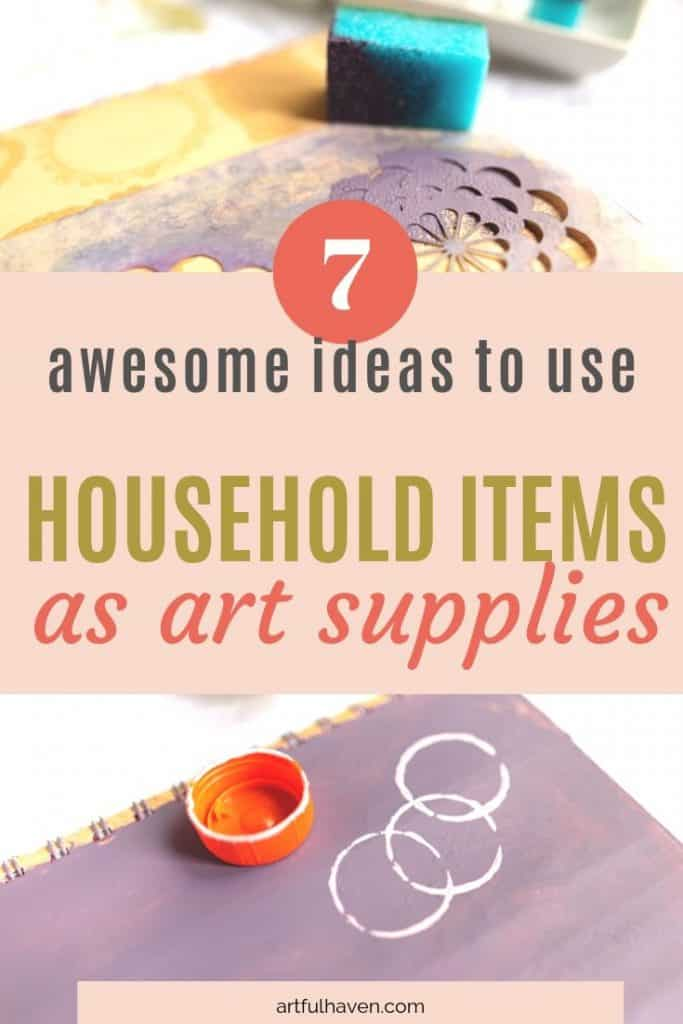 household items for art journaling
