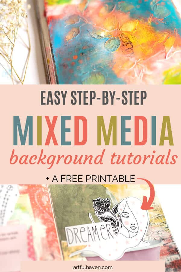 MIXED MEDIA BACKGROUND TUTORIALS