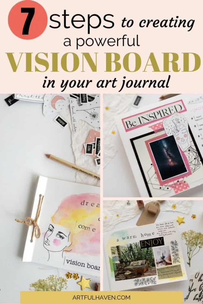 a vision board art journal