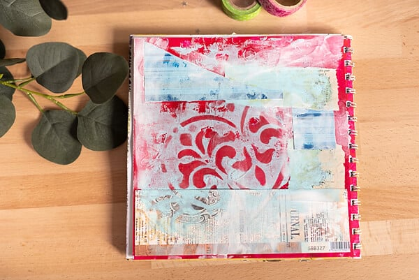 GESSO ON ART JOURNAL PAGE
