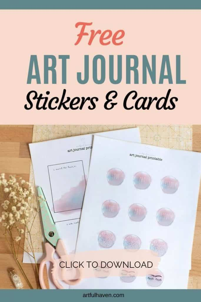 free art journal stickers