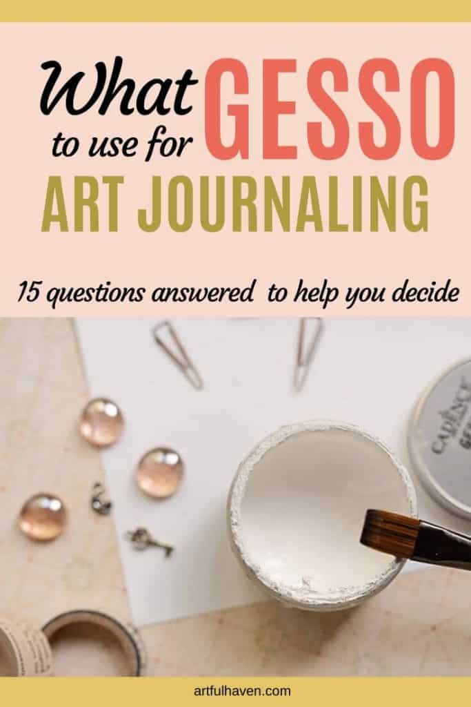 GESSO FOR ART JOURNALING