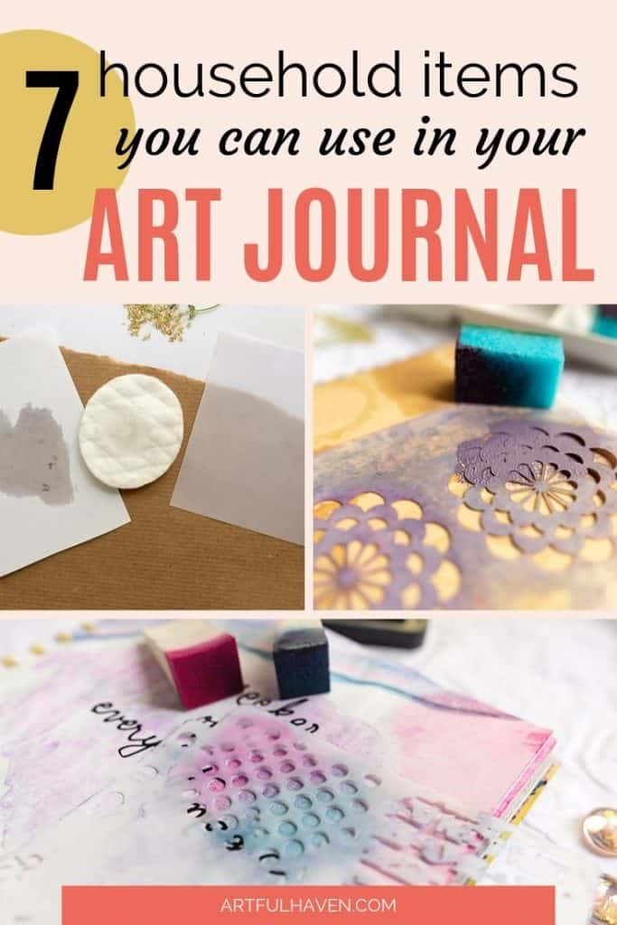art journal supplies in your home