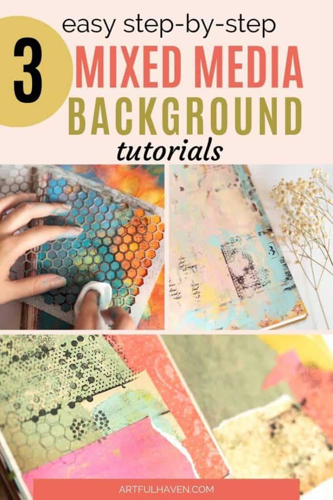 mixed media art journal tutorials