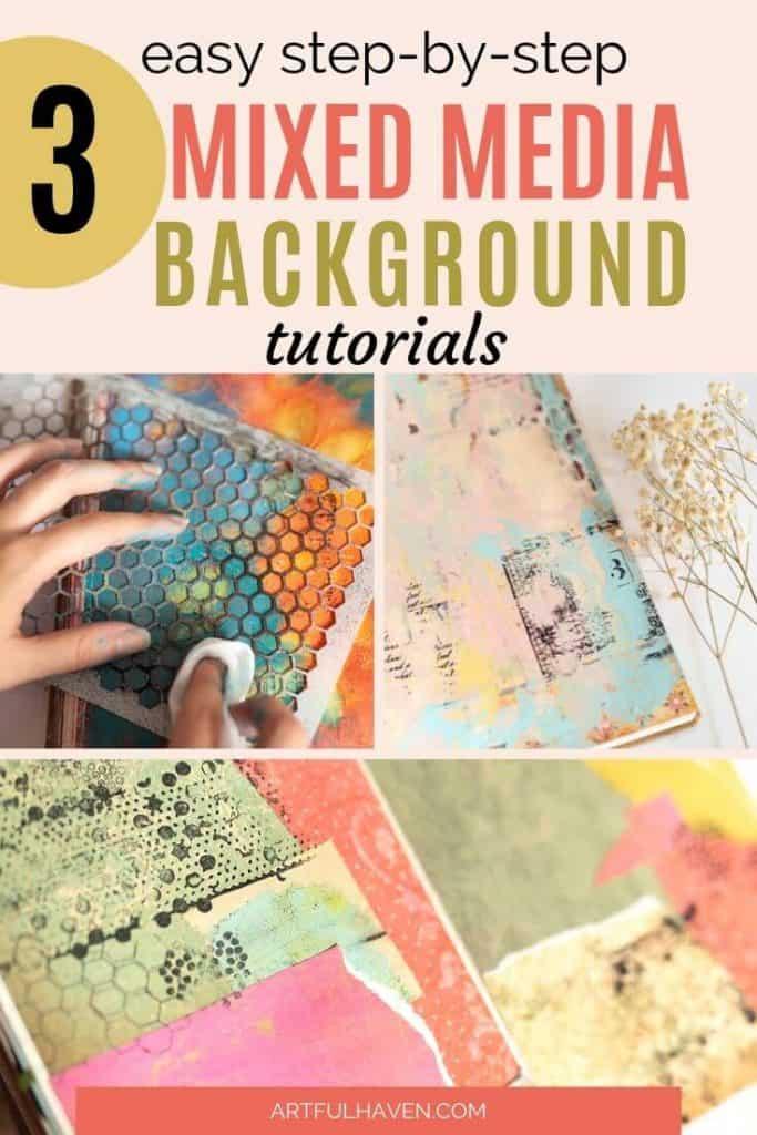 mixed media art journal tutorials