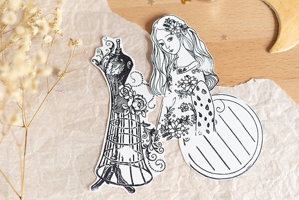 stamped paper cut-outs