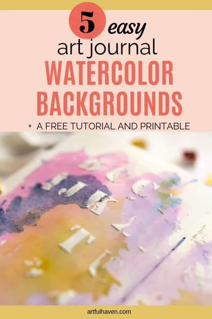 WATERCOLOR BACKGROUND IN AN ART JOURNAL