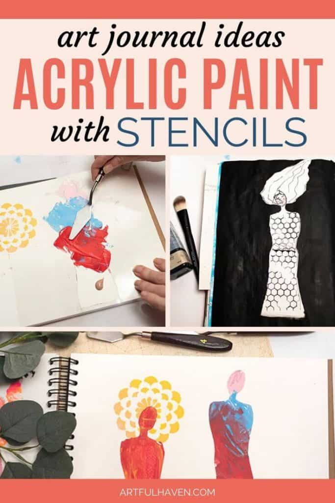 easy acrylic painting ideas with stencils