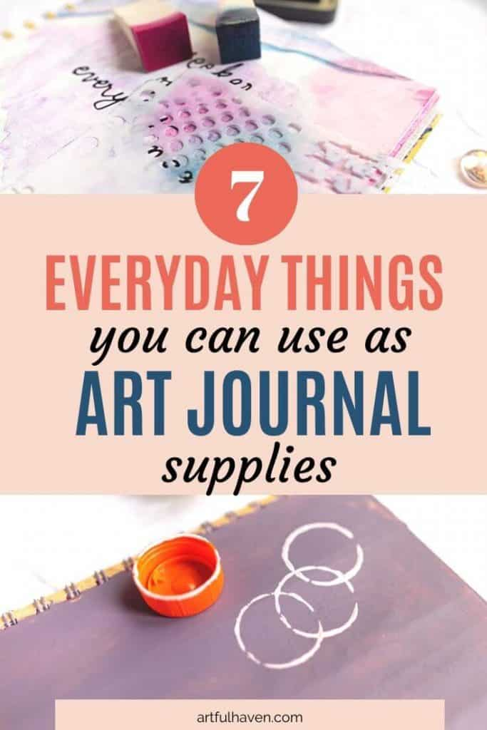 household things as art journal supplies