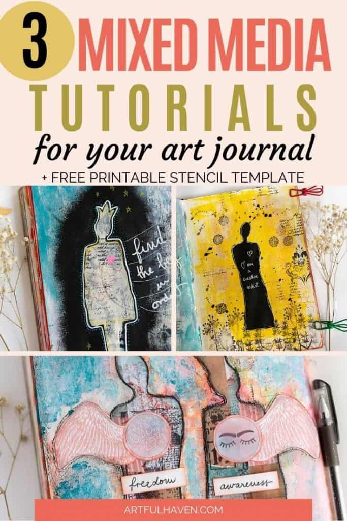 mixed media art journal tutorial