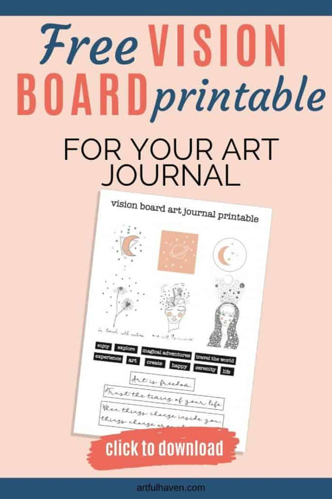 vision board art journal printable