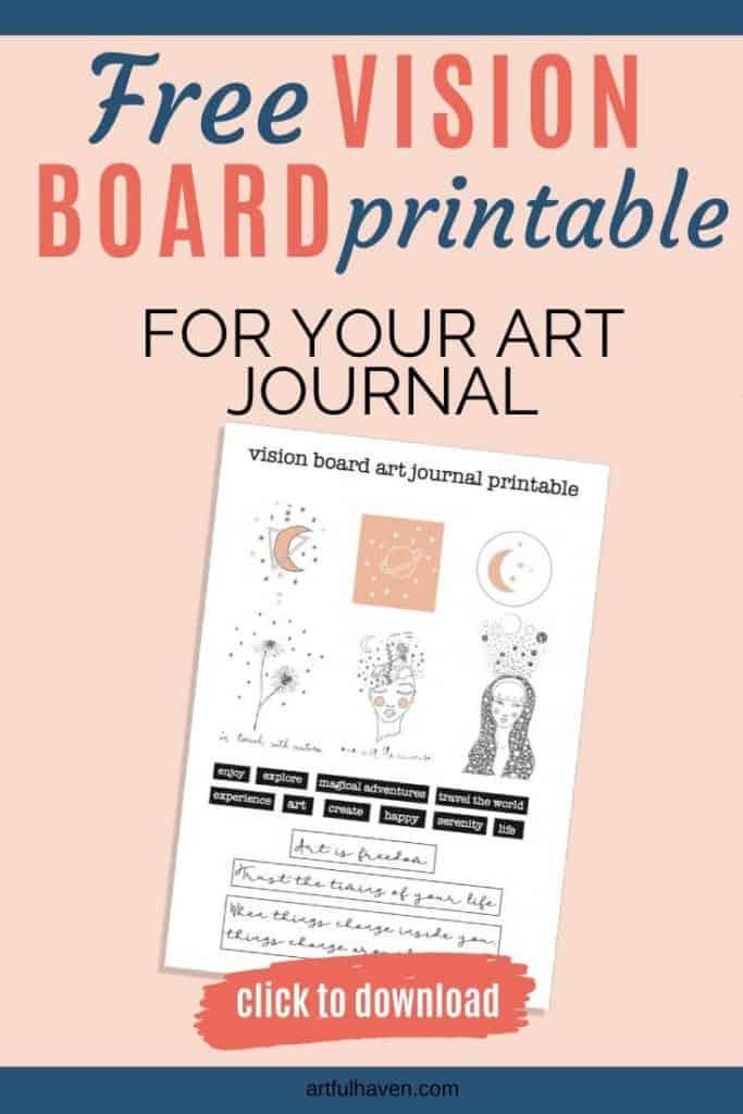 vision board art journal printable