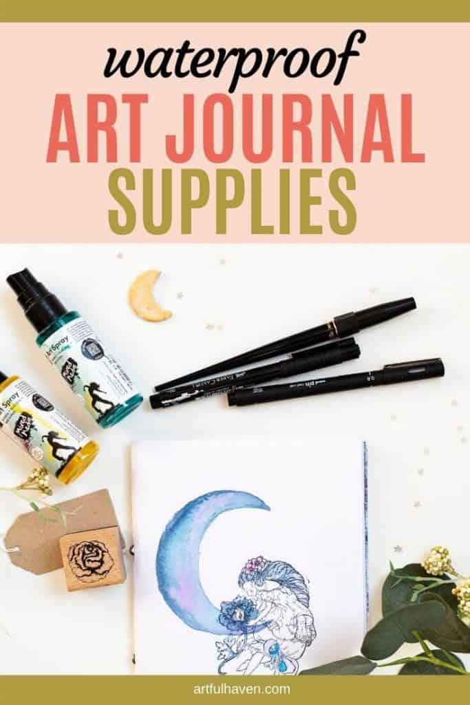 waterproof art journal supplies