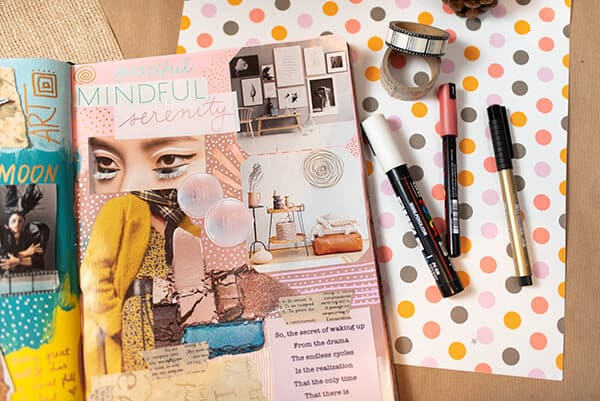 art journal inspiration board