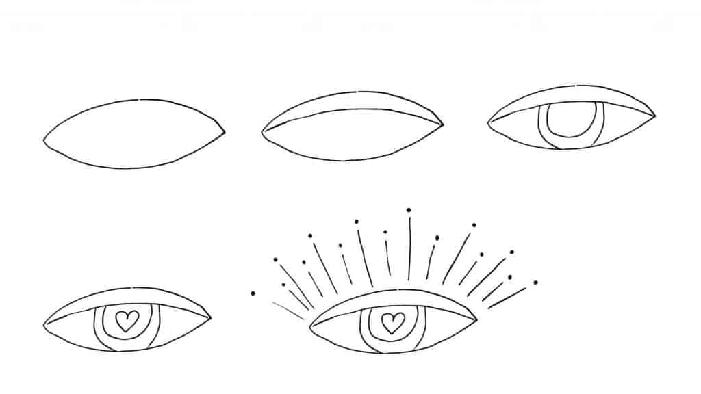 EASY THINGS TO DRAW-EYE