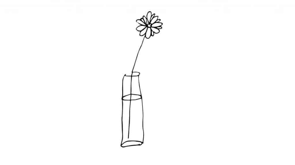 EASY THINGS TO DRAW-FLOWER IN A VASE
