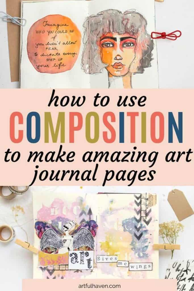 composition in art journaling