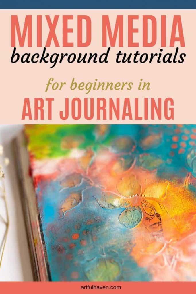 mixed media background tutorials