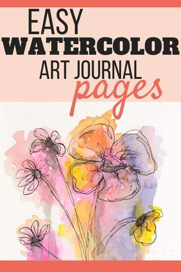 Easy Watercolor Art Journal Pages