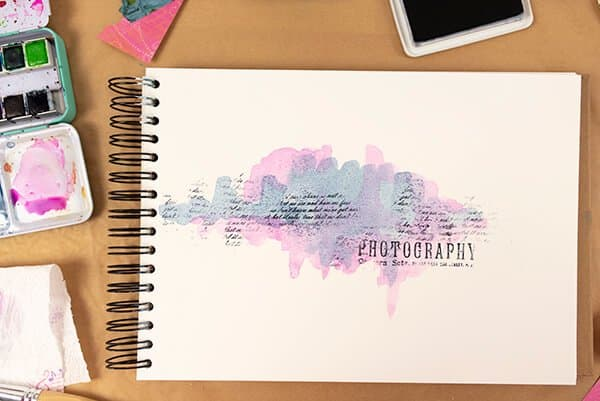 art journal watercolor page