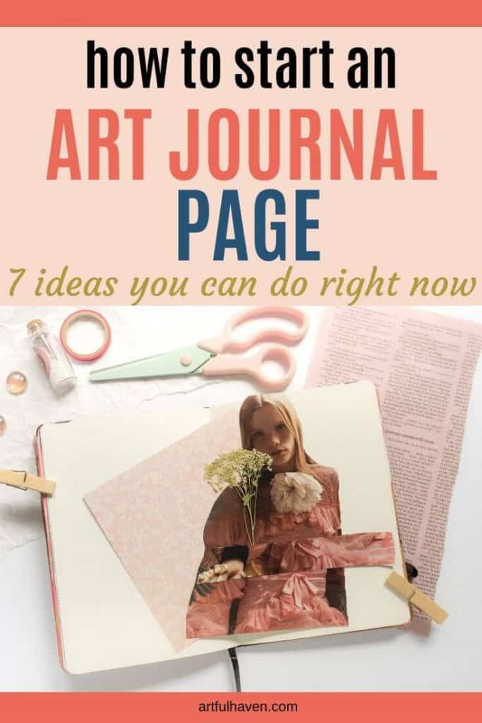 how to start an art journal page ideas