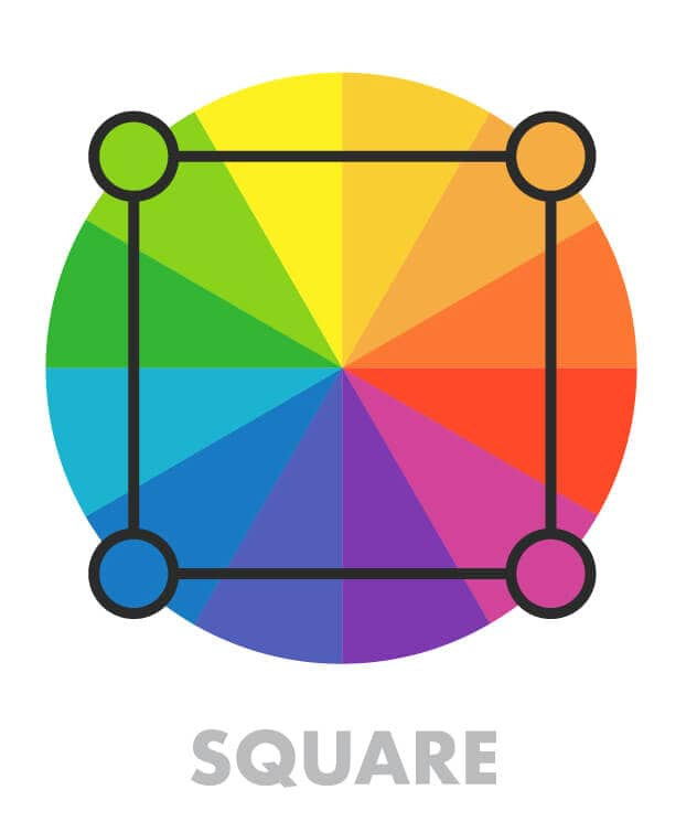 square colors on the color wheel
